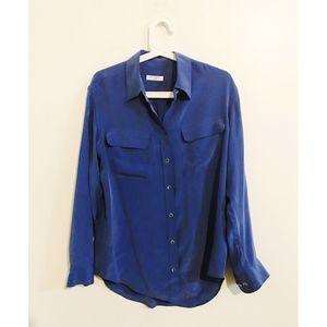 Equipment 100% silk button down blouse - Small